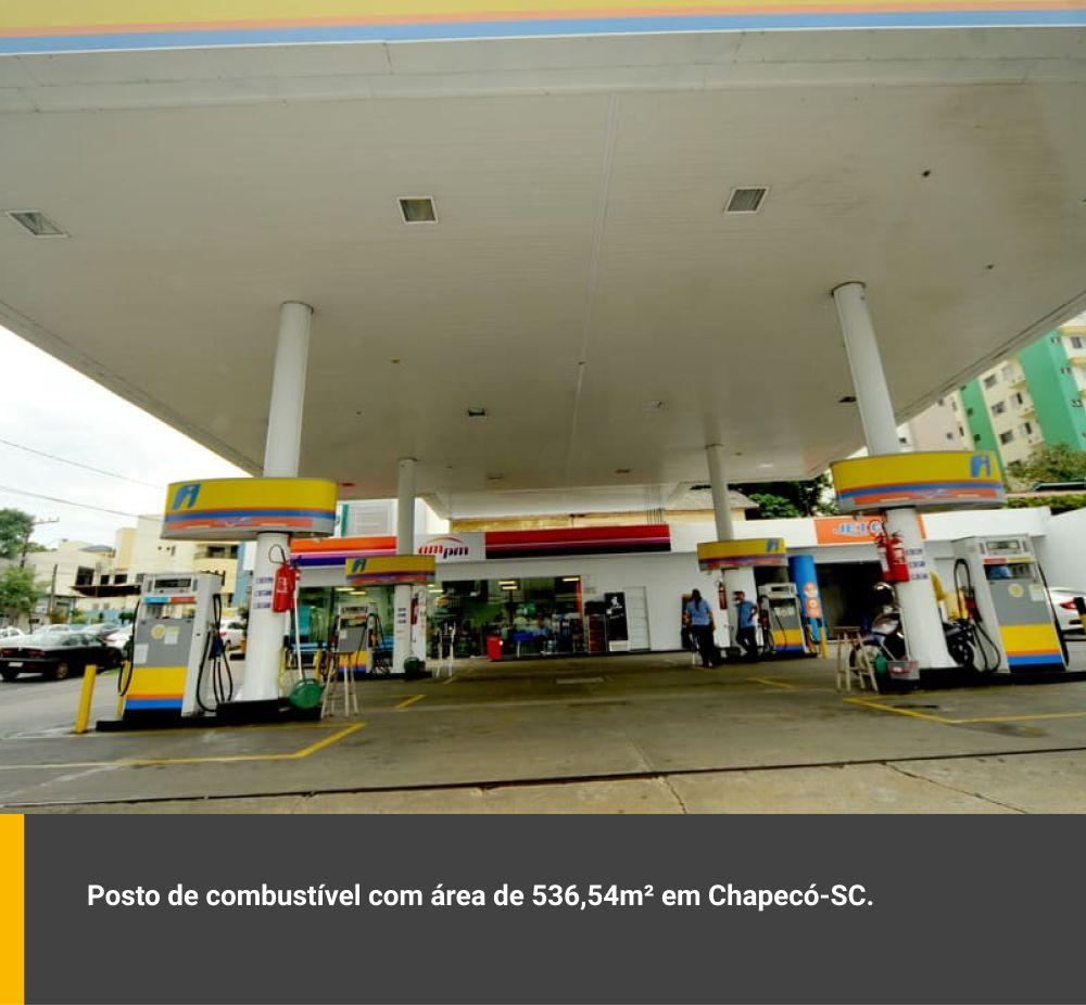 Posto de combustível com área de 536,54m² em Chapecó / SC