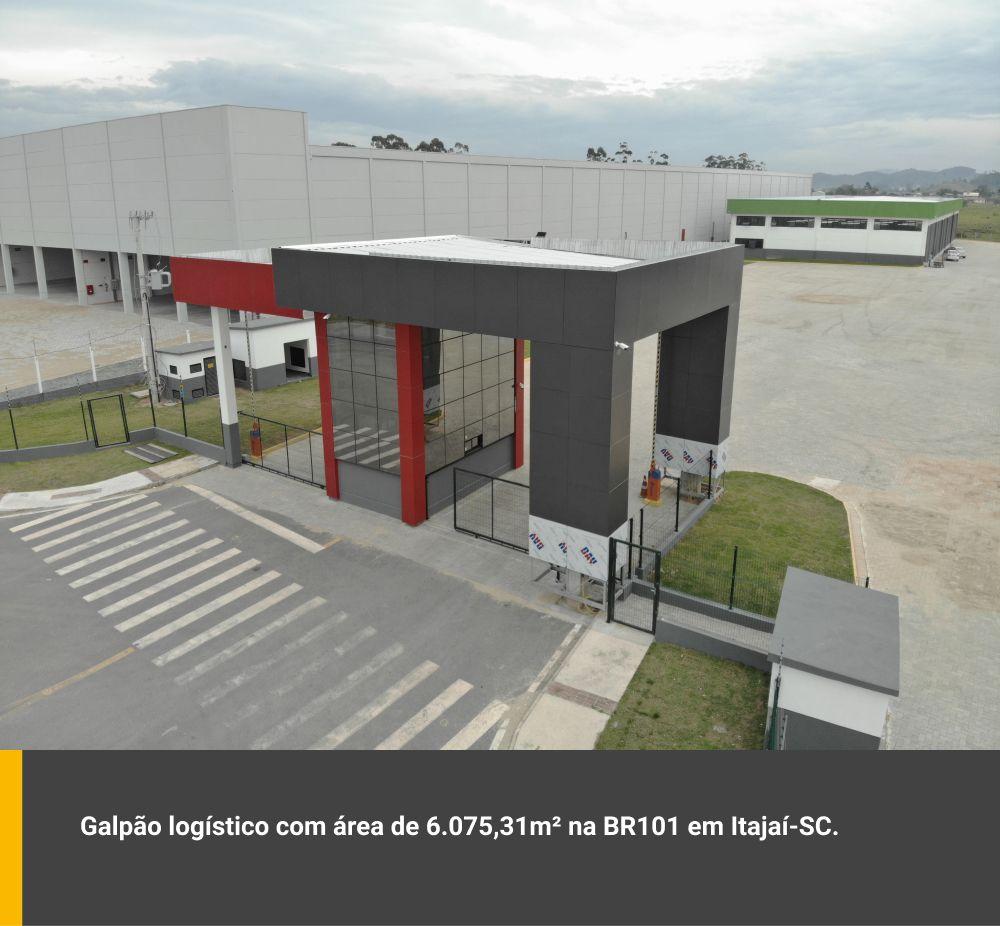 Galpão logístico com área de 6.075,31m² em Itajaí / SC