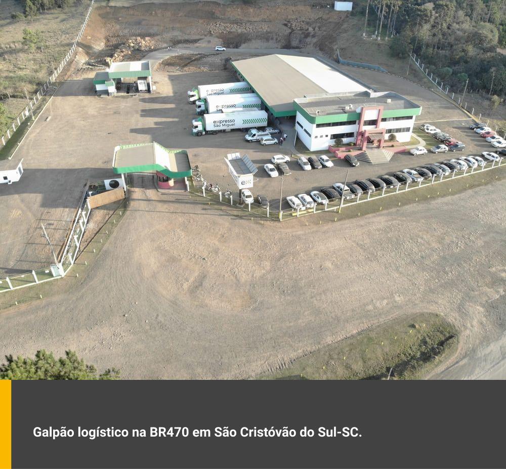 Galpão logístico na BR470 em São Cristovão do Sul / SC
