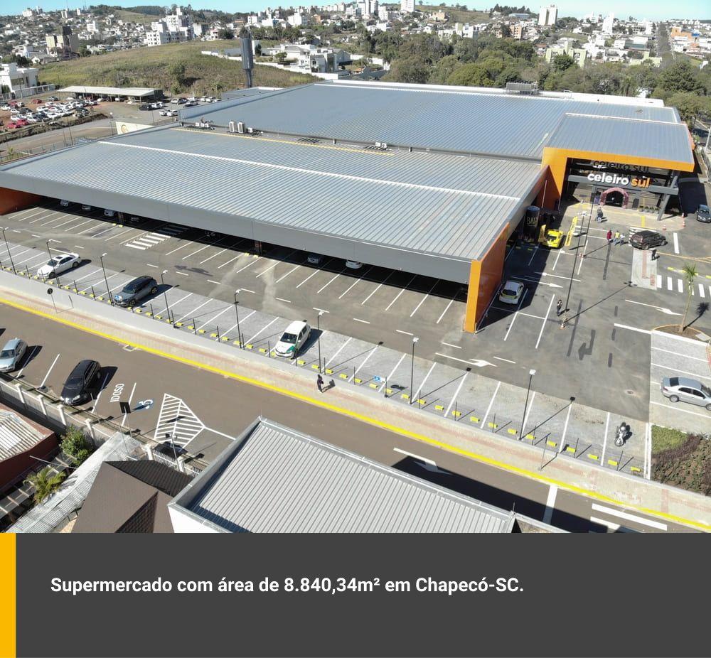 Supermercado com área de 8.840,34m² em Chapecó / SC