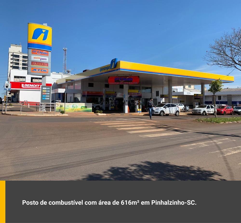 Posto de combustível com área aproximada de 616m² em Pinhalzinho / SC