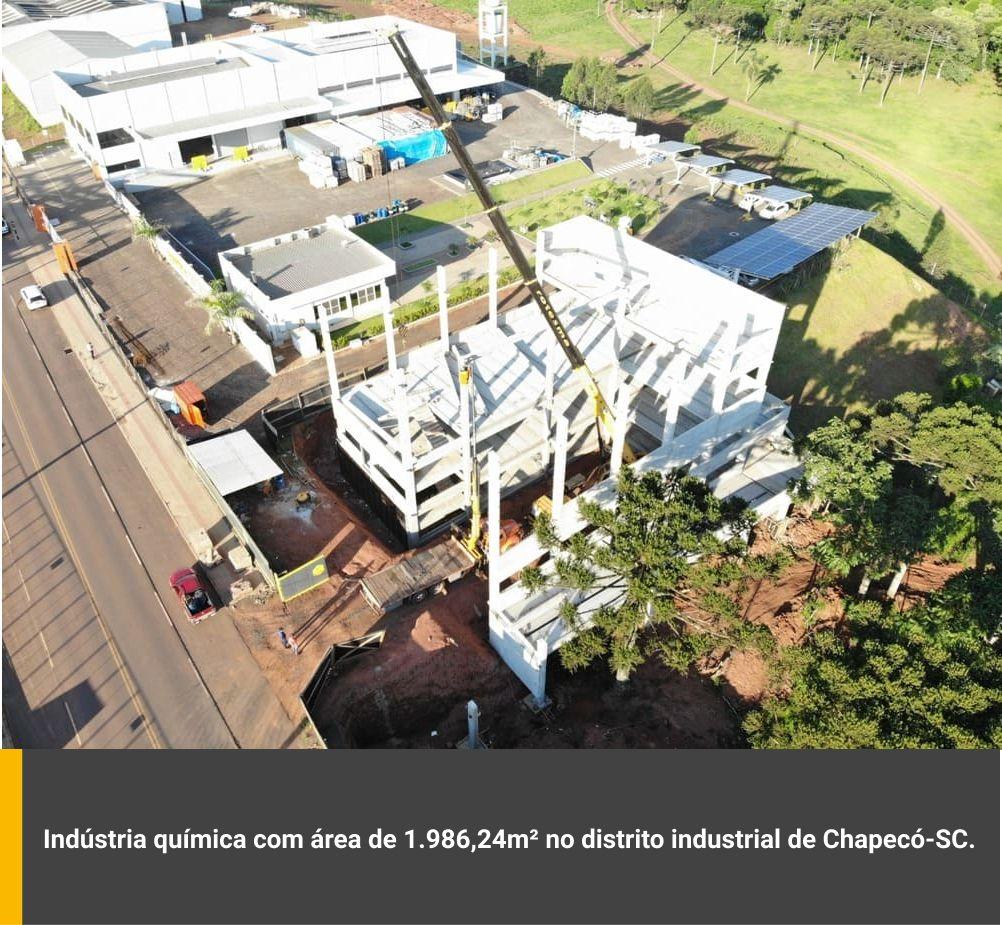 Industria química com área de 1.986,24m² no distrito industrial de Chapecó / SC