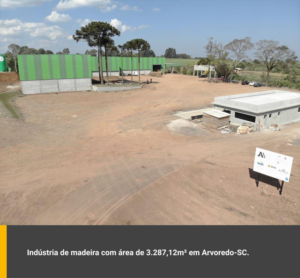 Indústria de madeira com área de 3.287,12m² em Arvoredo / SC