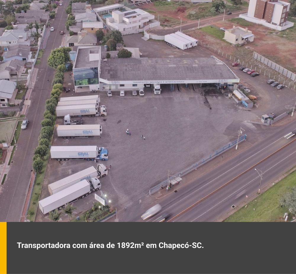 Transportadora com área de 1.892m² em Chapecó / SC