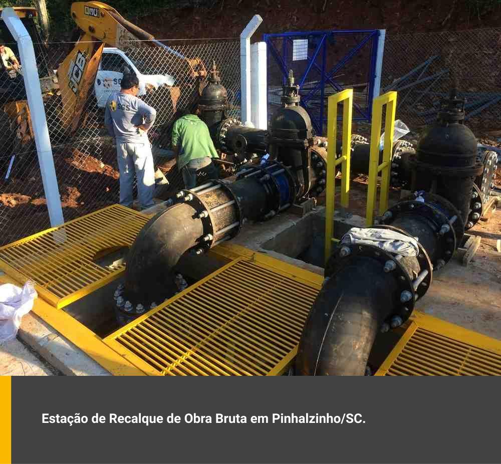 Estação de recalque de obra bruta em Pinhalzinho / SC