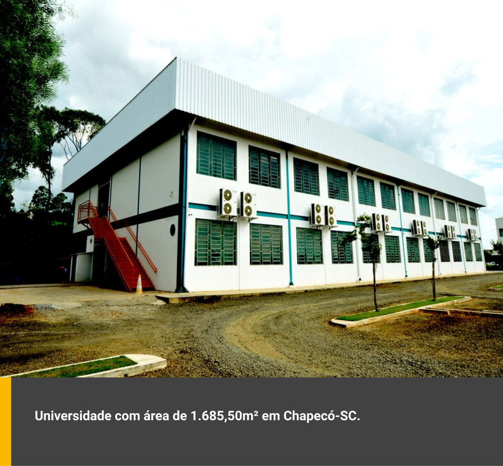 Universidade com área de 1.685,50m² em Chapecó / SC