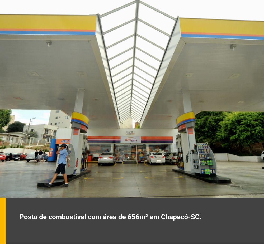 Posto de combustível com área de 656m² em Chapecó / SC