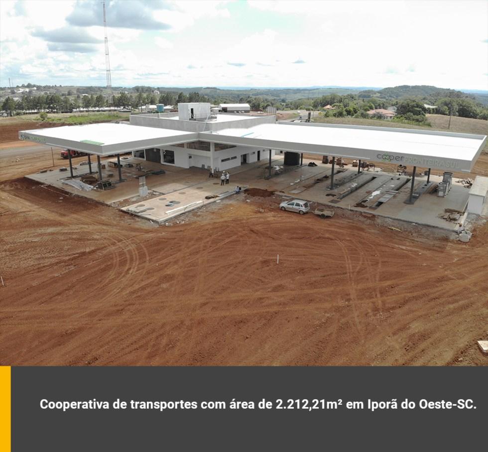 Cooperativa de transporte com área de 2.212,21m² em Iporã do Oeste / SC